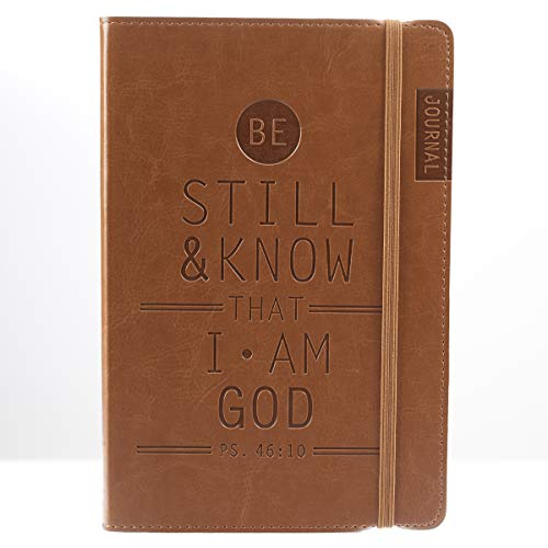 Be Still & Know Tan Flexcover Journal with Elastic Closure - Psalm...