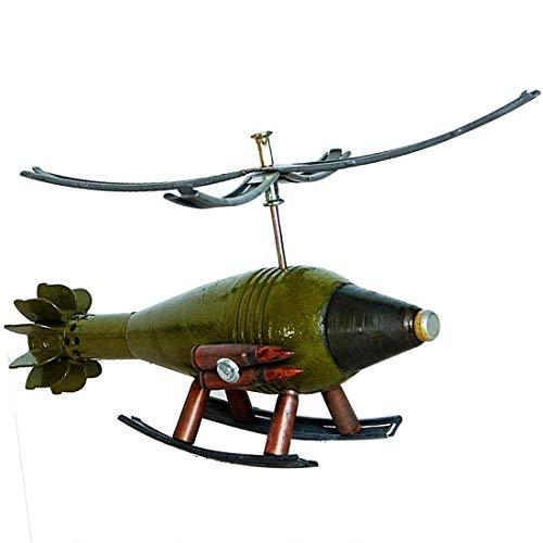 Unbekannt Dekoration SM 60 Creative Home Decoration Simulation Geschosse Modell Hubschrauber Militär Modell Army Green