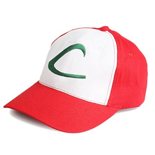 Katara 1754 - Pokémon Go Hat Schirm-Mütze, Trainer Base-Cap von Ash Ketchum, grün (Coole Schnelle Und Einfache Halloween Kostüme)