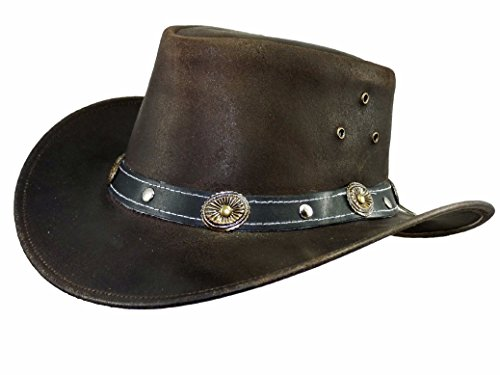 Thor Equine Kinder - Lederhut Cowboyhut Westernhut, Warenda Junior, Braun, XXS-XS XS
