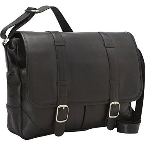 david-king-co-double-strap-messenger-with-two-straps-and-buckles-black-one-size