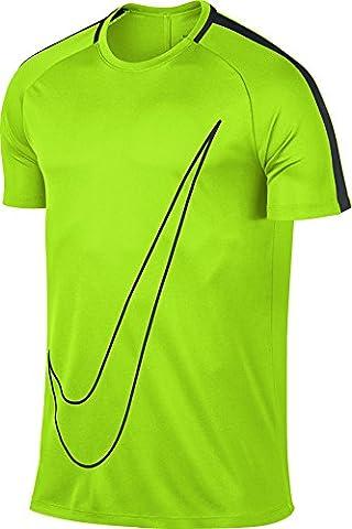 Nike M nK Dry acdmy SS GX T-shirt à manches courtes, Homme L Vert (electric green / black)