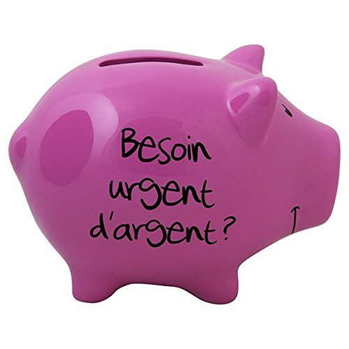 Hucha cerdo 'Besoin Urgent de plata?