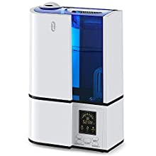 Il TaoTronics TT-AH001 è un umidificatore da casa a ultrasuoni che emette vapore acqueo per umidificare l'aria secca.   Cartuccia Durevole  Grazie alla cartuccia microporosa in ceramica, non è necessario versare acqua pre-filtrata nell'umidificatore....