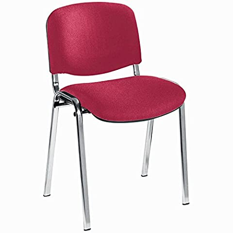 Jemini Ultra Multi-Purpose Claret Stacking Chair with Metal Chrome Frame,