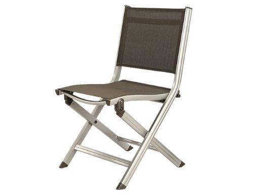 Kettler Basic Plus Balkon Sessel silber/anthrazit, Gestell silber, Textilene anthrazit