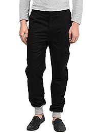 Hypernation Black Color Casual Trouser For Men