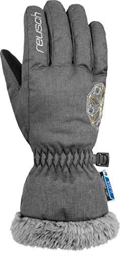 Reusch Mädchen Marina R-TEX XT Junior Handschuhe, Cation Light Grey/Silver/Gold, 6 (Grau Marine-tex)