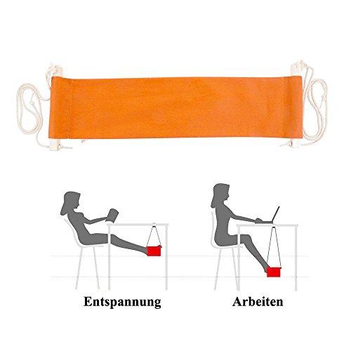 Büro Fußablage Schreibtisch Hängematte Fuß Hängematte Verstellbar Orange Hängesessel