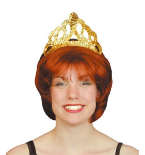 Bristol Novelty BA192 Tiara Pailletten Gold groß, One size