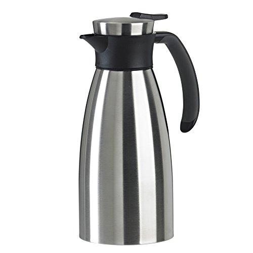emsa edelstahl thermoskanne Emsa 508932 Isolierkanne (1 Liter, Quick Tip Verschluss, Soft Grip, Edelstahl) schwarz