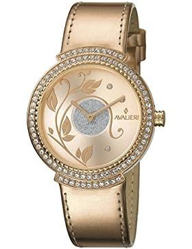 AVALIERI av1l048l0044_ rosegold-35–Uhr für Frauen Lederband Gold Pink