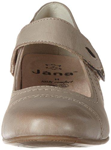 Jana Damen 24300 Mary Jane Halbschuhe Braun (PEPPER 324)