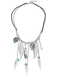 Madanyu Elegant Vintage Bohemian Petal Necklace - Boho Pendant - Western Fashion Jewellery
