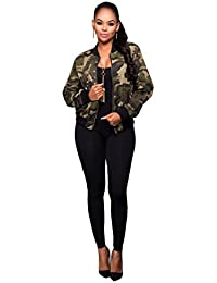 Blansdi Femmes Camouflage Manteau Automne Winter Street Jacket Fashion Ladies Casual Vestes