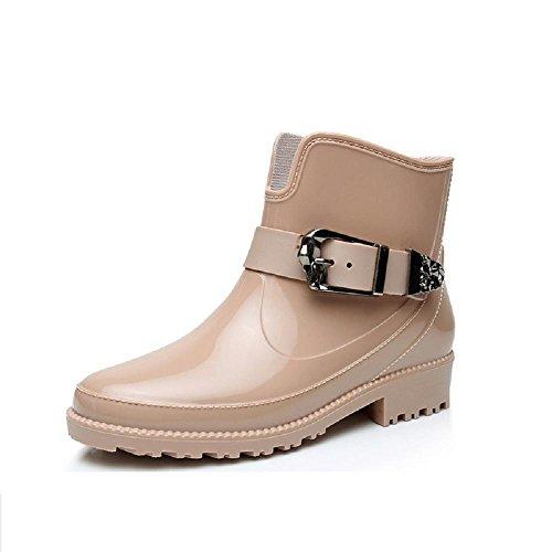 primavera moda Ms. stivali da pioggia Martin stivali beige