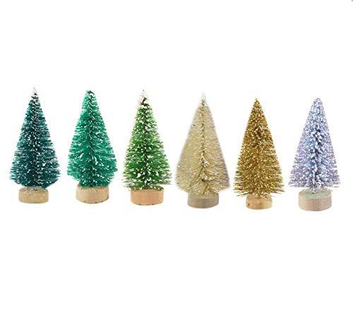 Molinter-12x-Mini-Weihnachtsbaum-Knstlicher-Weihnachten-Baum-Christbaum-Tannenbaum-mit-stnder-Weihnachtsdeko-Weihnachten-Deko-Geschenk