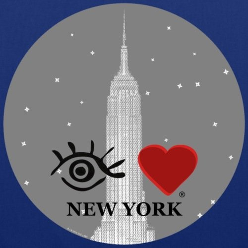 Spreadshirt Eye Love New York Stoffbeutel Royalblau