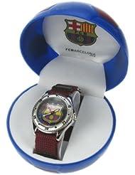 Montre FC Barcelone enfant coffret ballon de football