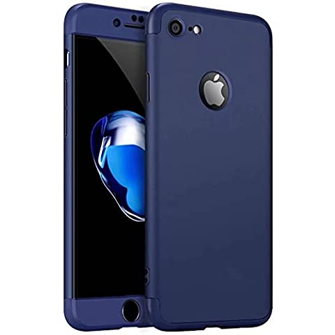 iPhone 7 Case,iPhone 7 cover TXLING 360 Degree Protection 3 in 1 Slim Cover Shockproof Shell Full Body Coverage Protection Case For iPhone 7 4.7 - blue