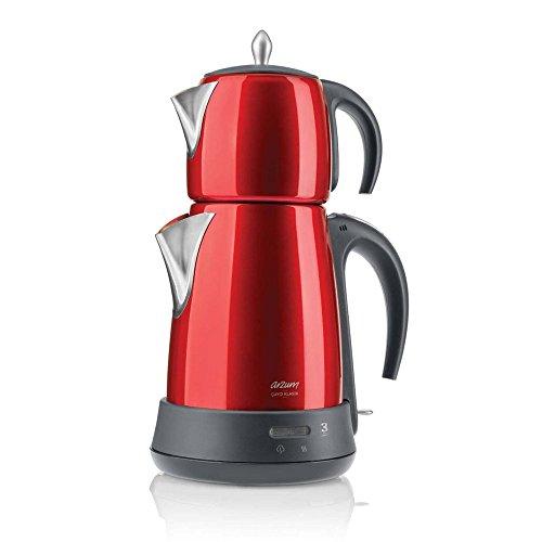 Arzum AR3006Cayci Klasik Tea Maker, Aluminium, Red, 28x 28cm