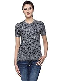 Wolfpack Bird Camo Round Neck Half Sleeves 100% Cotton Girls/Womens T-Shirt for Bird Lovers