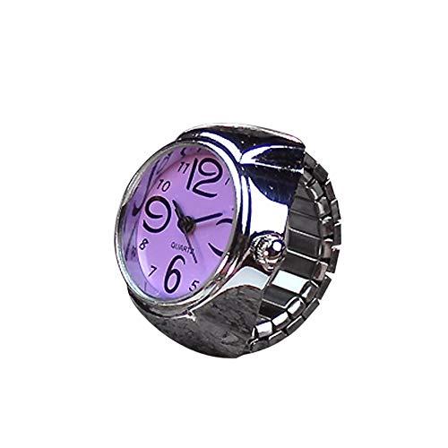 QUINTRA Sehen Sie schöne Mode Design Zifferblatt Quarz Analog Uhr Kreative Stahl Cool Elastic Quarz Finger Ring Uhr -