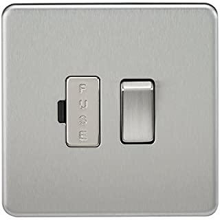 Knightsbridge SF6300BC Screwless 13 A Switched Fused Spur Unit, Brushed Chrome