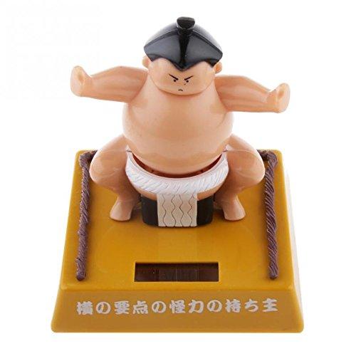 Juguete Solar Figura Nohohon Japonesa de Sumo Energía Bobblehead