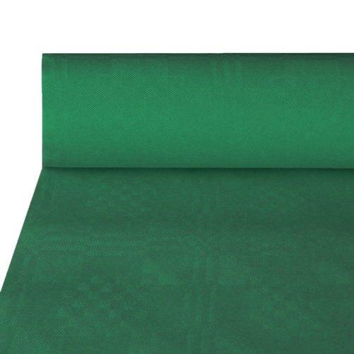 NEU Tischdecke dunkelgrün, Damastprägung, 50x1m