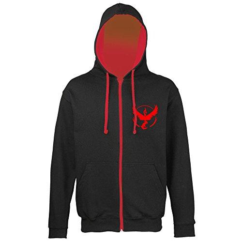 Bullshirt da uomo con cappuccio e cerniera Team Valor Black / Red Small - Red Mystic Jacket