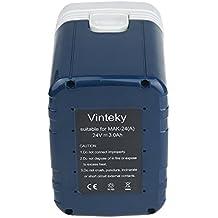 Vinteky® Batería de Herramientas Eléctricas para MAKITA 193127-4, 193128-2, 193130-5, 193131-3, 193736-9, 193737-7, 193739-3, 2417, 2420, 2430, B2417, B2420, B2430, BH2420, BH2430, BH2433(Ni-MH 24,00V 3000mAh)