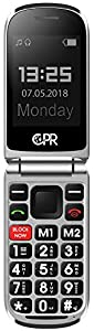 CPR CS900 Flip Mobile Phone Dual Screen With Call Blocking Technology And SOS Emergency Assist Button. 2/3G SIM Free