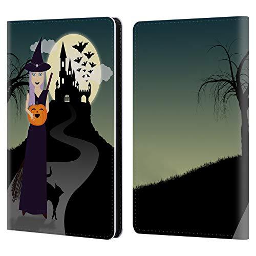 fizielle PLdesign Hexe Halloween Leder Brieftaschen Huelle kompatibel mit Kindle Paperwhite 1/2 / 3 ()