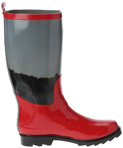 Be Only Pernelle, Bottes de pluie femme Rouge (Rouge/Gris)