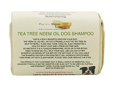 1 pc Tea Tree & Neem Oil Dog Shampoo 100% Natural Handmade 120g by Funky Soap