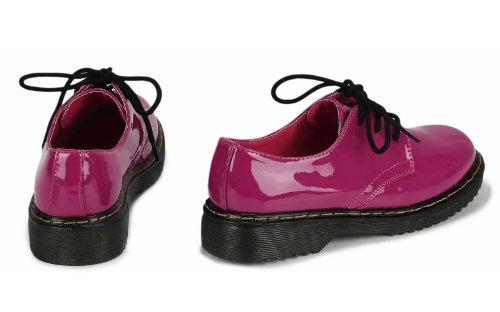 Femmes CHAUSSURES À Lacets Basses Grosse laine chaussures chaussures FALLEN PETIT L'AIR S'IL VOUS PLAÎT EINE NOMBRE UNE PLUS GRANDE COMMANDER Fuchsia