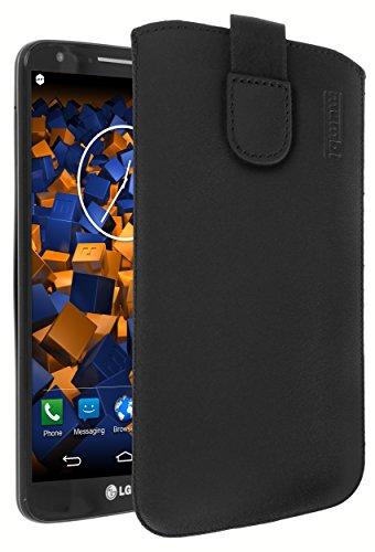 mumbi ECHT Ledertasche für LG G2 Tasche Leder Etui (Lasche m. Rückzugfunktion Ausziehhilfe) (G2 Handy)
