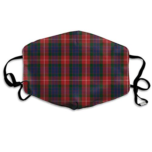 Fraser Red Tartan Anti-dust Cotton Mouth Face Masks Mouth Cover for Man and Woman