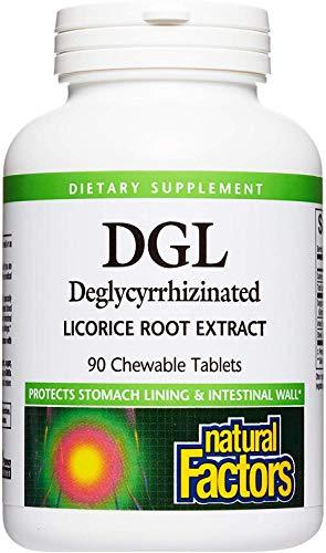 Natural Factors Dgl Chewable 400mg, 90 Chewable Tablets