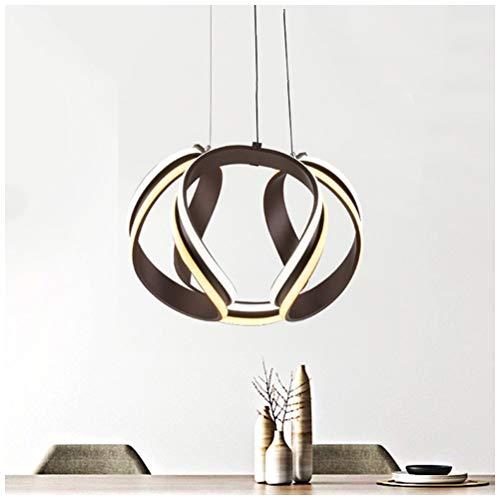 DE_ZHAO Moderne led Wohnzimmer pendelleuchte braun kronleuchter runde deckenbeleuchtung kreative Restaurant Tisch kronleuchter - braun - Runde-tisch-kronleuchter