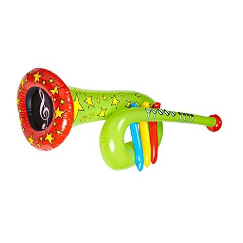 Preisvergleich Produktbild Aufblasbare Tuba Trompete Clown grün Zirkus Posaune Musik Instrument aufblasbar Aufblasbares Blasinstrument Kostüm Accessoire