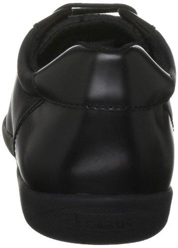 Calvin Klein Paco Nylon/Box Calf, Baskets mode homme Noir (Blk)