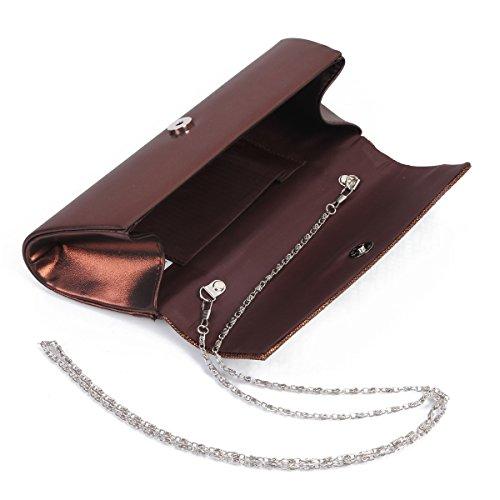 Damara Große Mit Strass Damen Handtasche,Gold Gold