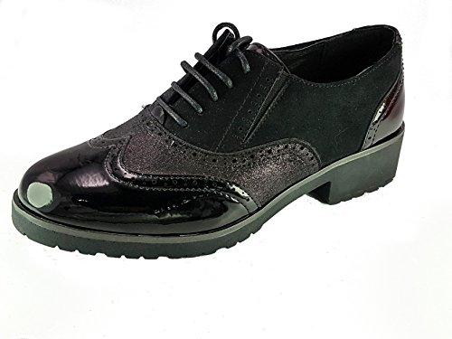 Shoes Scarpe da Passeggio Donna Ragazza Moda Comoda New Tacco Basso Nero