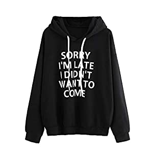 Festiday White Sweatshirts For Women 2018 New Casual Women's Coats, Jackets & Vests Women O-Neck Hoodie Jumper Long Sleeve Letter Print Sweatshirt Pullover Tops
