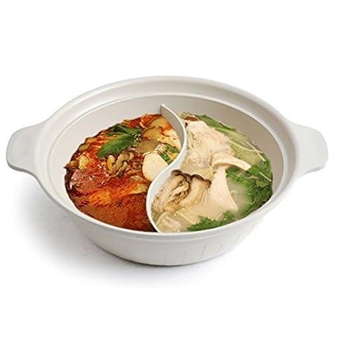 HARRA Home Specialty Half Pot 2-In-1 Pan Cookware Set Saucepan Kitchen Soup Pots (L)