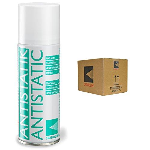 ANTISTATIK - VPE: 12 x 200ml Spraydose - Antistatikspray verhindert statische Aufladung - ITW Cramolin - 1331411 - verringert Schmutzanziehung, inkl. 6 St. DEWEPRO® SingleScrubs