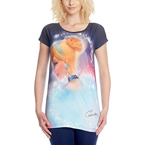 Cinderella Disney Glamour Girlie Shirt Damen Allover Print von Elbenwald  Mehrfarbig
