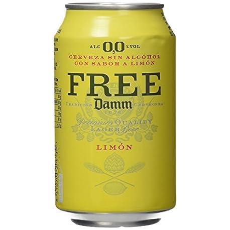Free Damm Cerveza Lim n Paquete de 24 x 330 ml Total 7920 ml